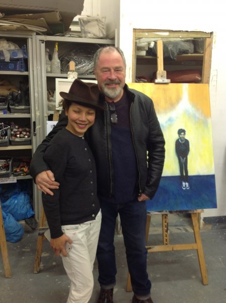 Prize announcement with Jade, February 2016. Art Academy, London Bridge